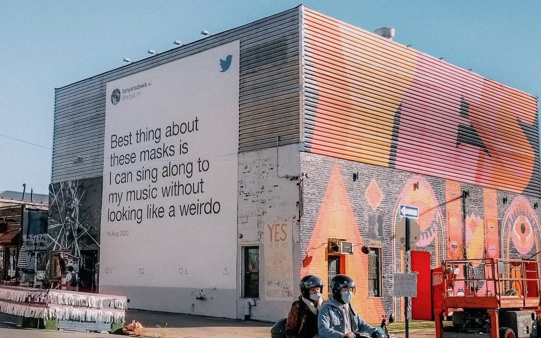 Twitter takes to the streets for social good messaging